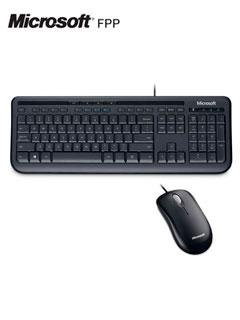 Kit+Teclado+y+Mouse+Microsoft+Wired+600%2C+USB%2C+Negro.