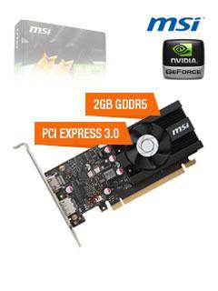 VGA+2GB+MSI+GT1030+LP+OC+GDDR5