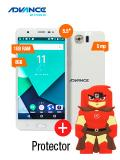 Advance+Hollogram+Hl6246+5.5%22+Quad+Core+1gb+8gb+Doble+Chip+3g+Blanco+Rojo